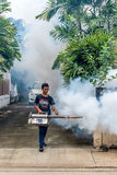 Fogging DDT spray kill mosquito Royalty Free Stock Photography