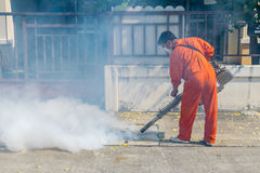 Fogging DDT spray kill mosquito Royalty Free Stock Images