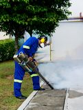 Fogging for dengue control Royalty Free Stock Photos