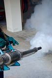Fogging by the public health. For dengue control Stock Images