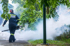 Fogging to eliminate aedes mosquito. Stock Photography
