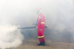 Fogging to eliminate aedes mosquito. Stock Photos
