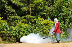 Fogging to prevent spread of dengue fever Stock Photos