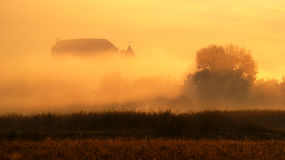 Foggy Autumn Landscape Royalty Free Stock Photography