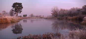 Autumn sunrise. Cold autumn morning Royalty Free Stock Photography