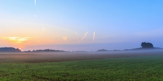 Foggy Bavarian Sunrise Stock Photos