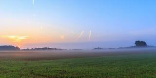 Foggy Bavarian Sunrise Stock Photos