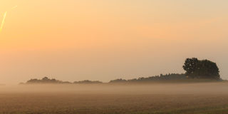 Foggy Bavarian Sunrise Stock Photo