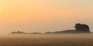 Foggy Bavarian Sunrise Stock Photo