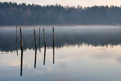 Foggy bay Royalty Free Stock Photo