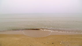 Foggy beach stock video footage