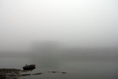 Foggy boat Royalty Free Stock Images