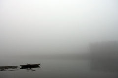 Foggy boat Royalty Free Stock Image