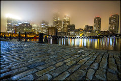Foggy Boston Royalty Free Stock Images