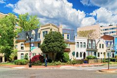 Foggy Bottom historische buurt in Washington DC royalty-vrije stock foto