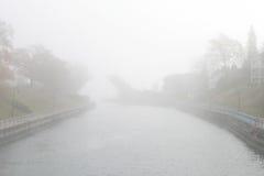 Foggy Bridge Stock Image