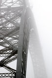 Foggy bridge Royalty Free Stock Image