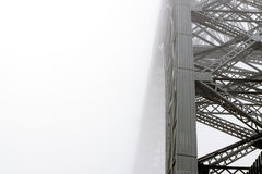 Foggy bridge Royalty Free Stock Photo