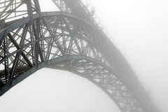 Foggy bridge Stock Images