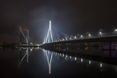 Foggy bridge Royalty Free Stock Image