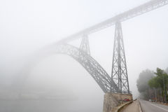 Foggy bridge Royalty Free Stock Photos