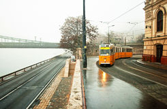 Foggy Budapest Stock Photography