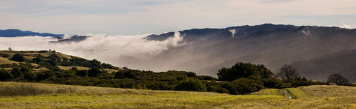 Foggy California Mountains Stock Images