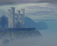Foggy castle. 3d rendered image Royalty Free Stock Image