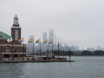 Foggy Chicago Shows Gay Pride Stock Images