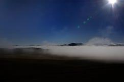 Foggy and cloudy in Gannan highland Stock Photography