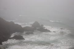 Foggy Coastline. In California, USA Stock Photos