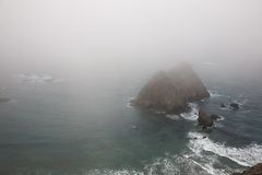 Foggy Coastline Stock Images