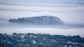 Foggy coastline royalty free stock photo
