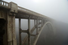 Foggy coastline Stock Images