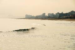 Foggy coastline Stock Image