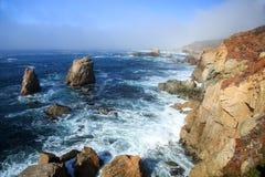 Foggy coastline. Near Big Sur, California Royalty Free Stock Photo
