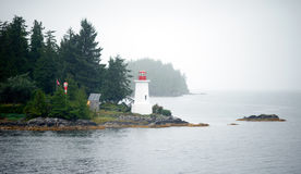 Foggy Conditions Inside Passage Lighthouse Canadian Ground Royalty Free Stock Photos