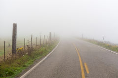 Foggy Country Road Stock Images