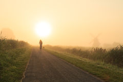 Foggy countryside sunrise Royalty Free Stock Image