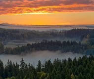 Foggy countryside view Royalty Free Stock Photo