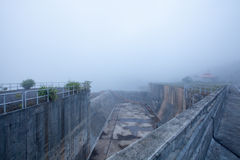 Foggy dams Royalty Free Stock Images