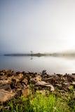 Foggy dams Stock Image