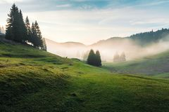 Free Foggy Dawn In Romania Countryside Royalty Free Stock Images - 149477369