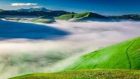 Free Foggy Dawn In The Castelluccio, Italy, Umbria Stock Photo - 69874070