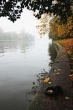 Foggy day. In city park Royalty Free Stock Photos
