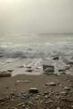 Foggy Day at the beach Royalty Free Stock Images