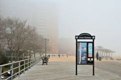 Foggy day on broad-walk Stock Photo
