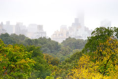 Foggy day in Central Park, NY Royalty Free Stock Image