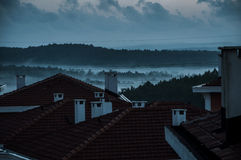 Foggy Day. A foggy and cold day of winter royalty free stock image