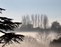 Foggy Day in the Country Royalty Free Stock Photos